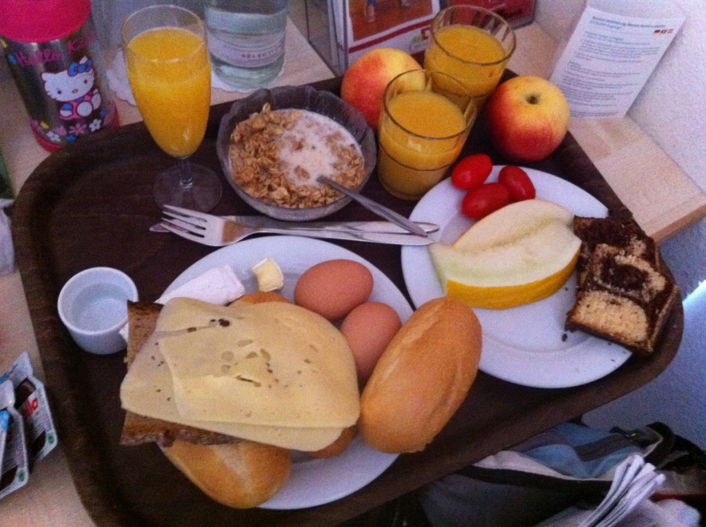 Amazing breakfasts at almost all the hotels we stayed at