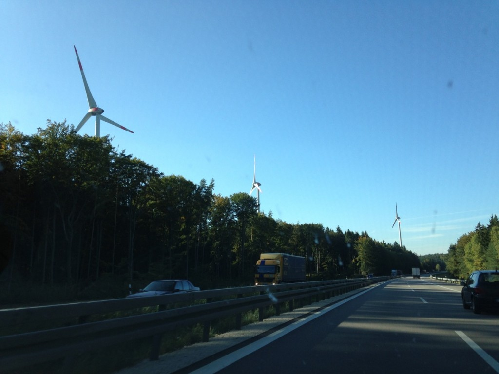 Everywhere we went in Germany, we saw alternative energy - windmills or fields full of solar panels