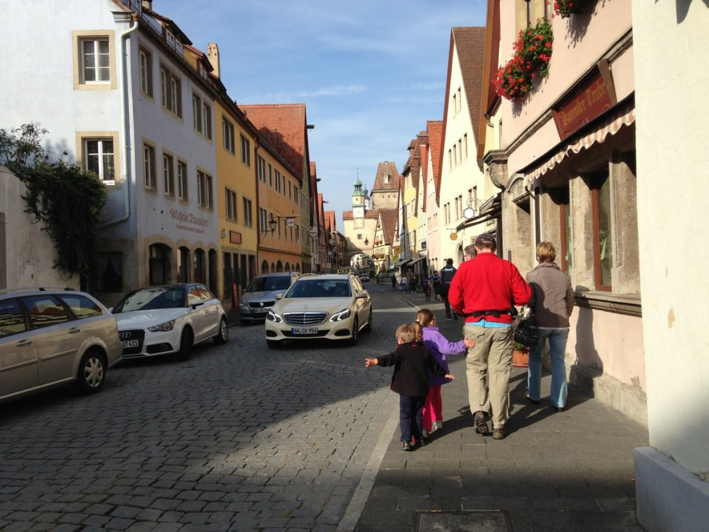 Rothenburg ob der Tauber (not to be confused with the other Rothenburg - careful with that GPS) has a remarkable preserved medieval center, with an amazing city wall you can walk on.  There's lots of great shopping, some very nice restaurants, and beautiful old buildings.