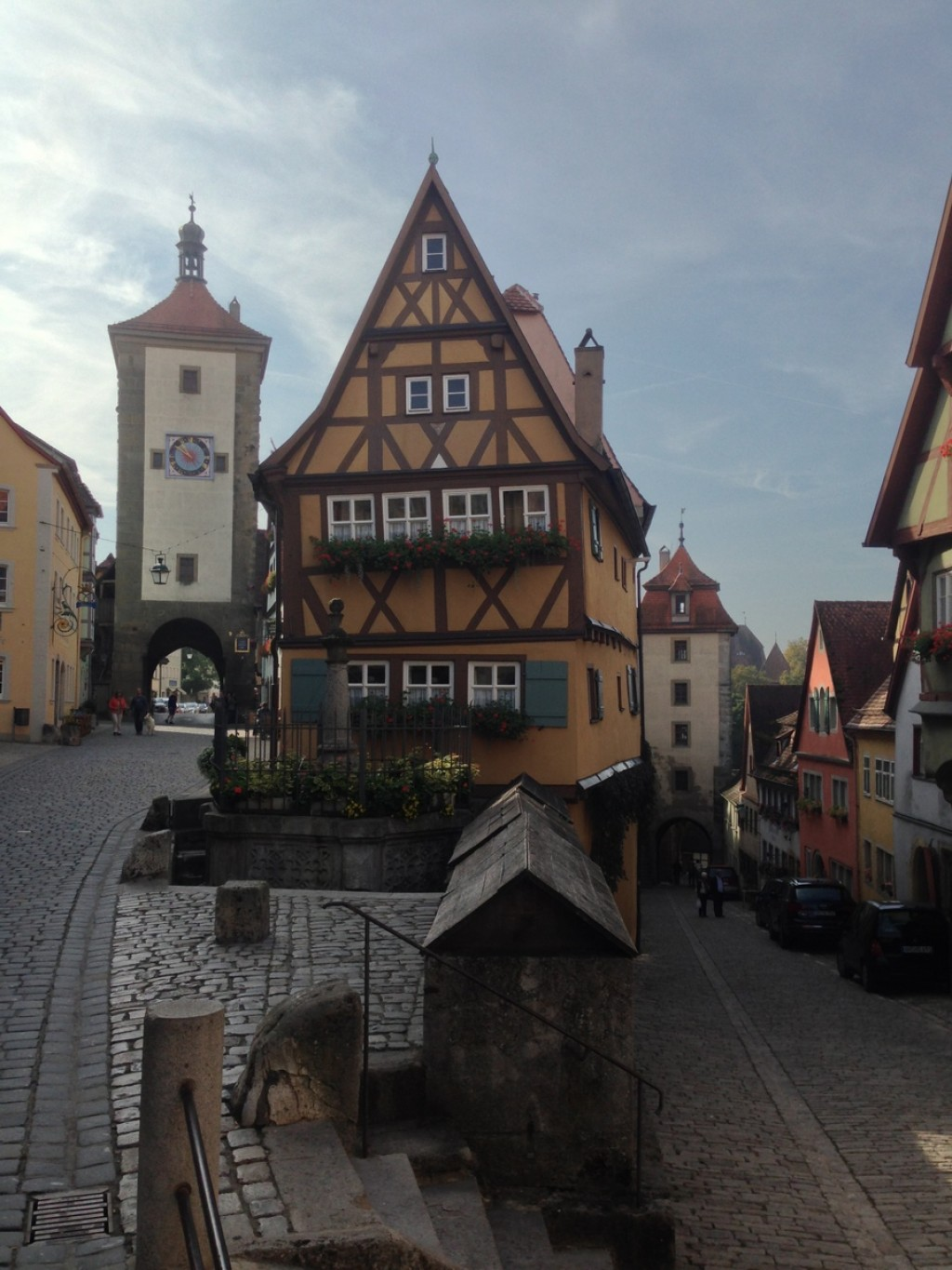 Plonelin Fork, the most photographed street in Rothenburg ob der Taubern