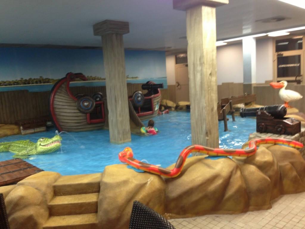 The childrens area of Das Bad den Kaiserthermen in Trier, swimming pool /  indoor water park