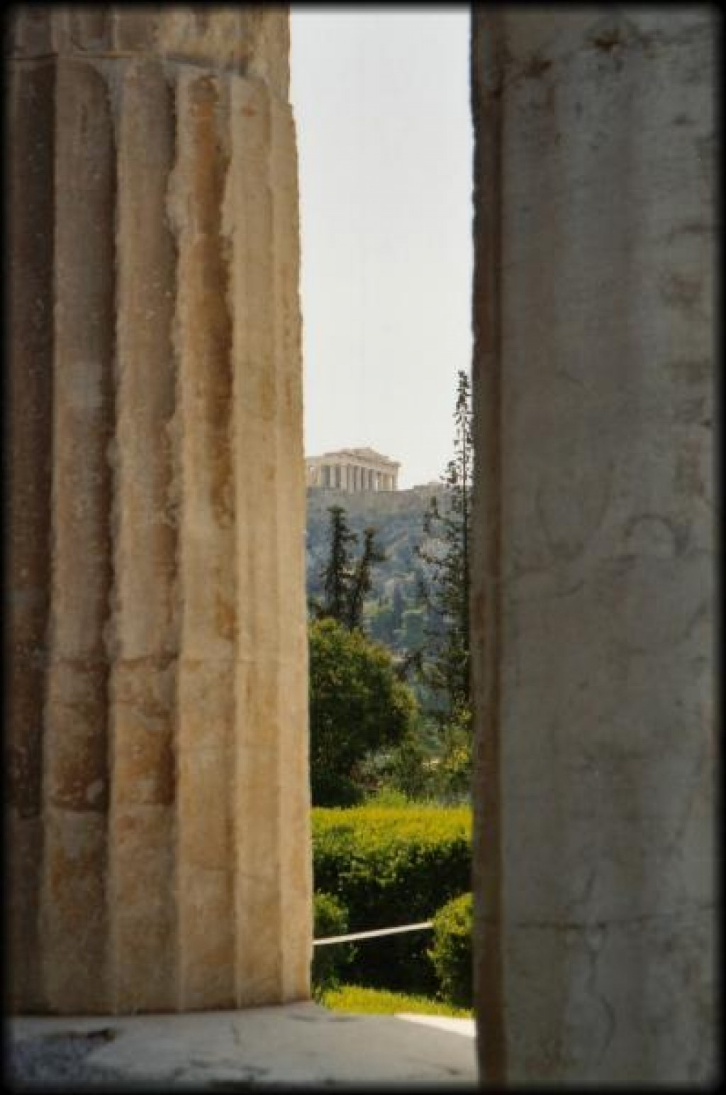 Peaking up at the Parthenon from the Ancient Agora below.