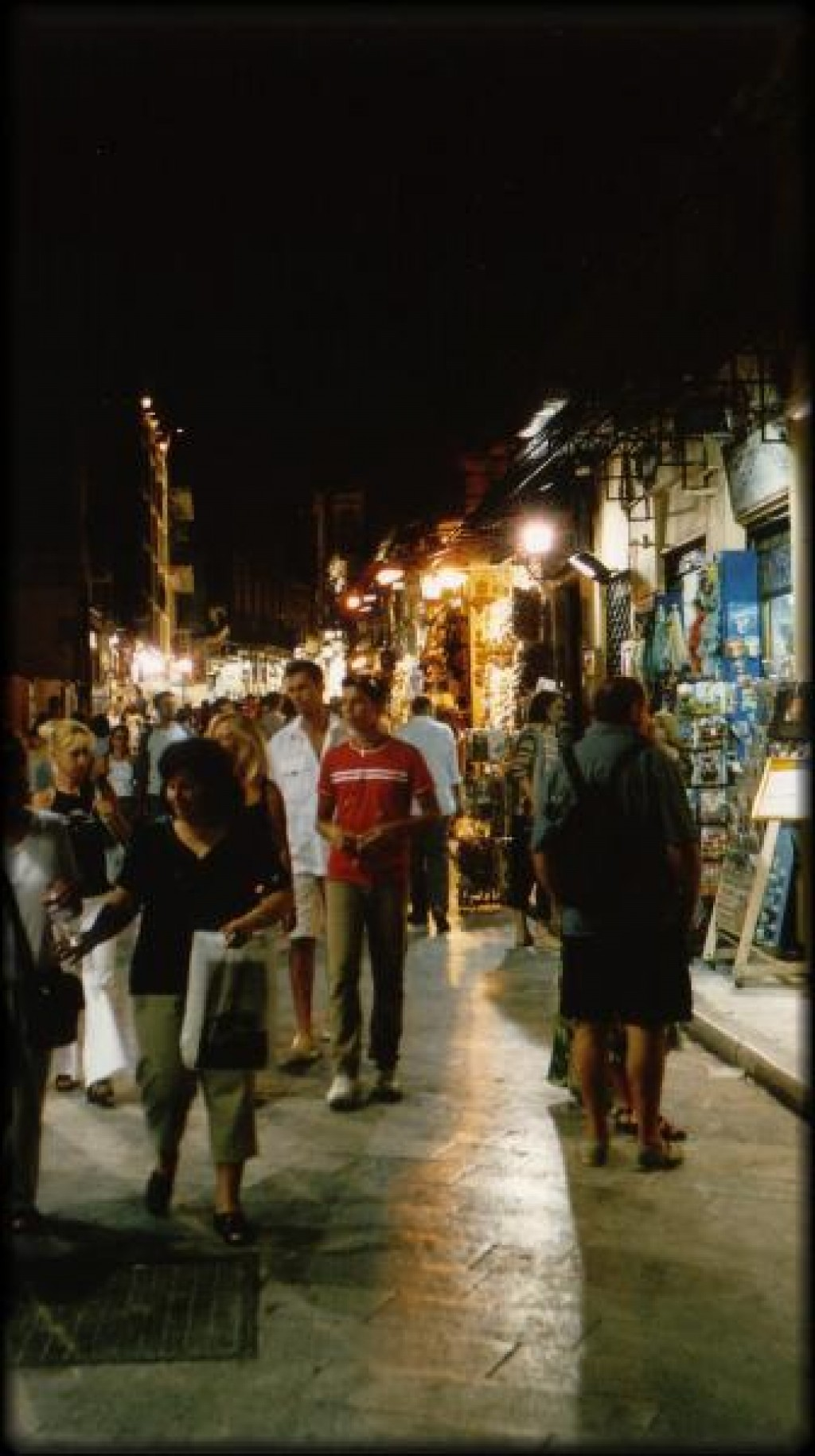 At night, the Plaka turns into a huge shopping area, with many souvenir shops as well as street vendors. It's quite a scene.