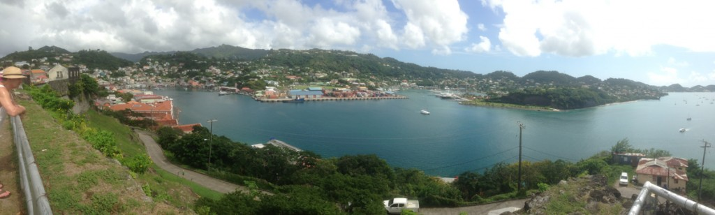 St George's, the capital of Grenada, was fun to spend half a day exploring.  The Saturday market is worth a wander, and Fort George is an easy hike up from the port with fabulous views from the top.