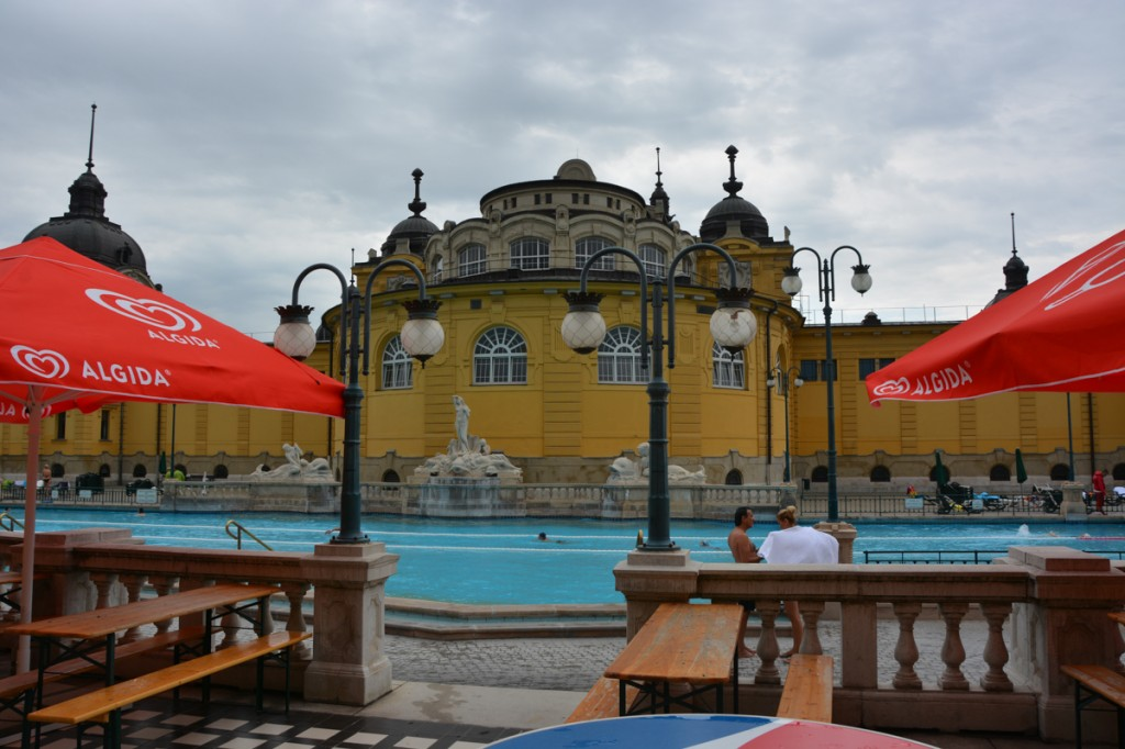 As close as we could get without paying to go inside Széchenyi Thermal Bath