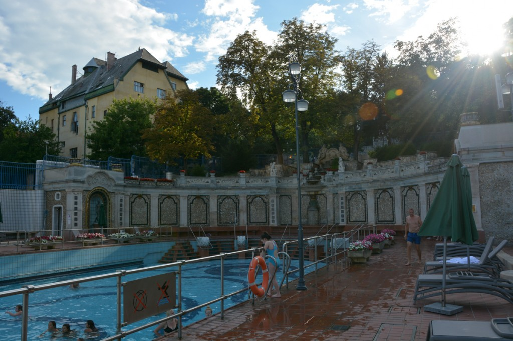 There is an outdoor wave pool at the Gellert Baths as well.