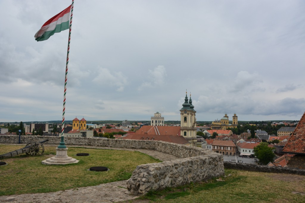 Overlook of Eger from the top of the castle