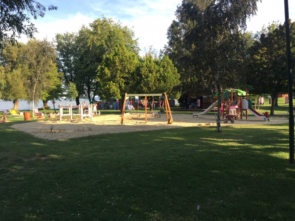 More great playgrounds at Varosi Strand in Keszthely