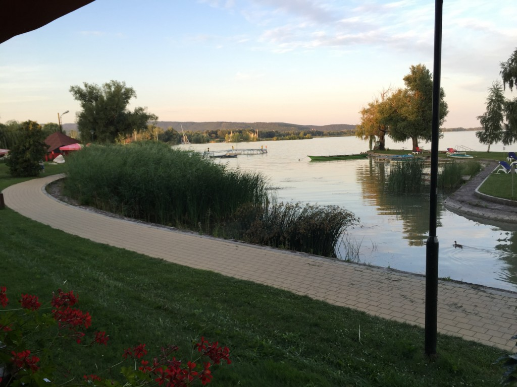 We stayed for a couple of nights in Keszthely in Lake Balaton. It is a lakeside resort town.  We enjoyed a couple of days on the beach, and enjoyed the music, food and drink the lively town offers.
