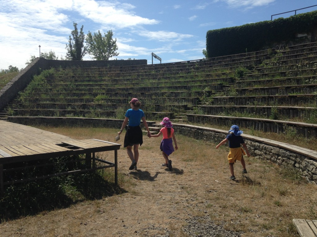 Exploring the old amphitheater. There was a lack of maintenance which was a little disappointing.