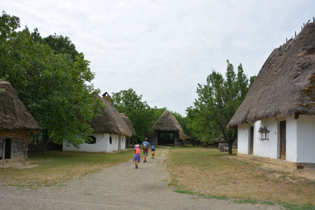 We visited the Szentendre Skanzen Village Museum (or Hungarian Open Air Museum) was a great day trip from Budapest. The museum is expansive with a little train that runs between the different sites in the village.