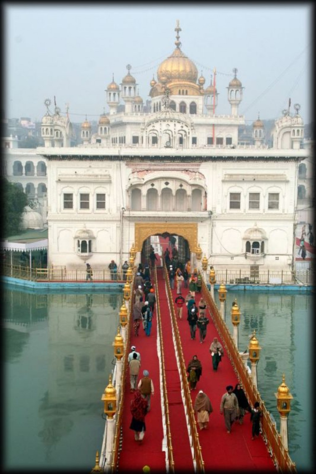 The Gurus' bridge to the Hari Mandir Sahib (or Darbar Sahib).