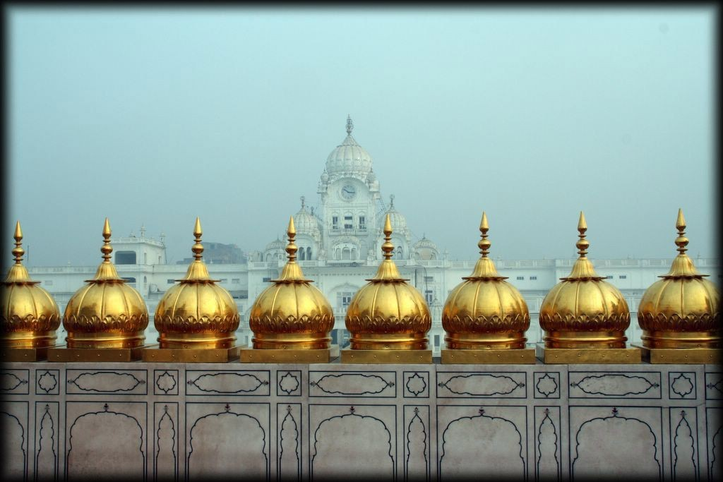 From the top of the Hari Mandir Sahib looking toward the Clock Tower