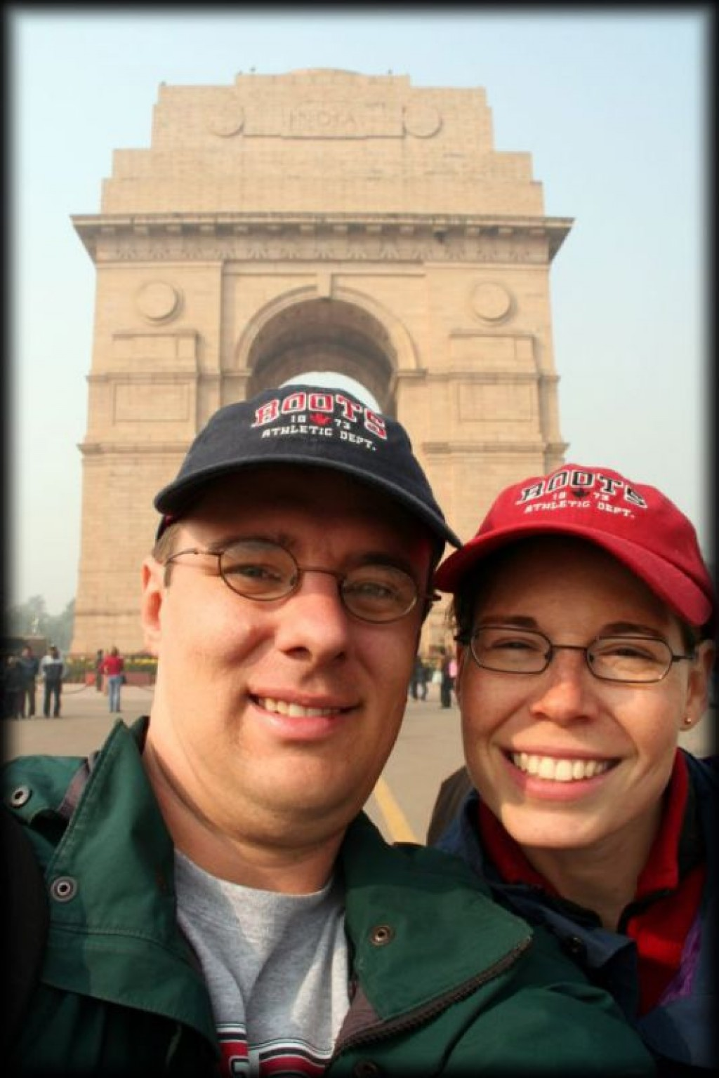 We visited the India Gate in the center of town.