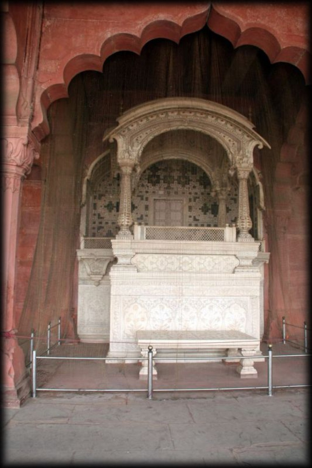 Diwan-I-Am.  This is where the throne used to sit.