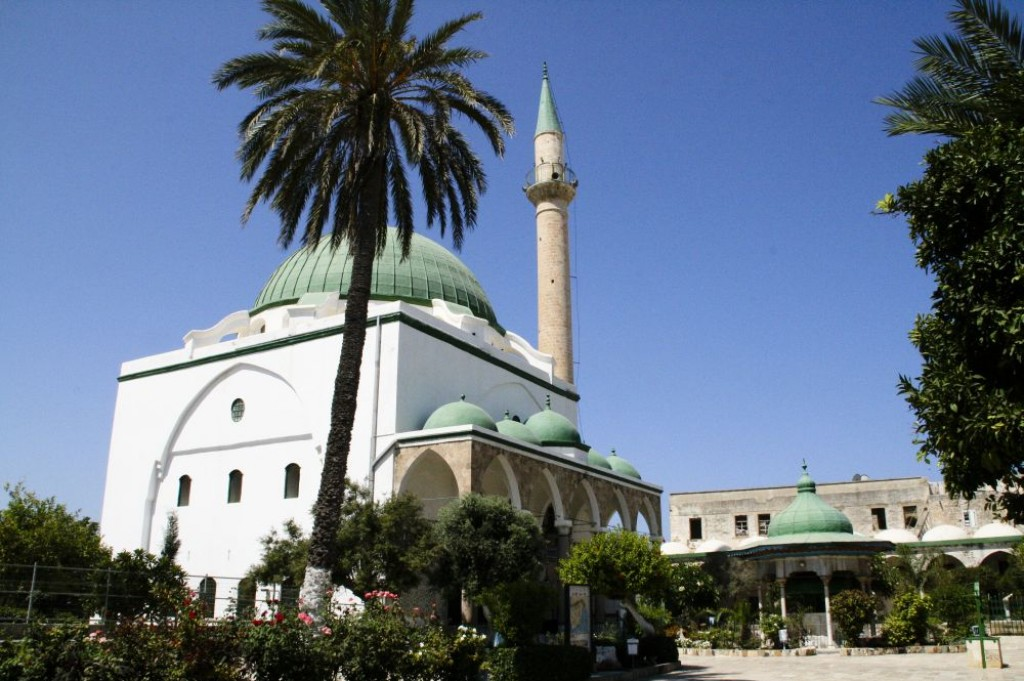 Mosque of al-Jazzar, the third largest mosque in Israel, built in 1781.