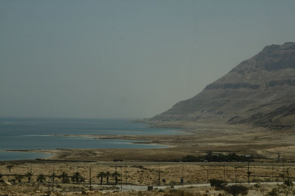 The Dead Sea is surrounded by mountains ..