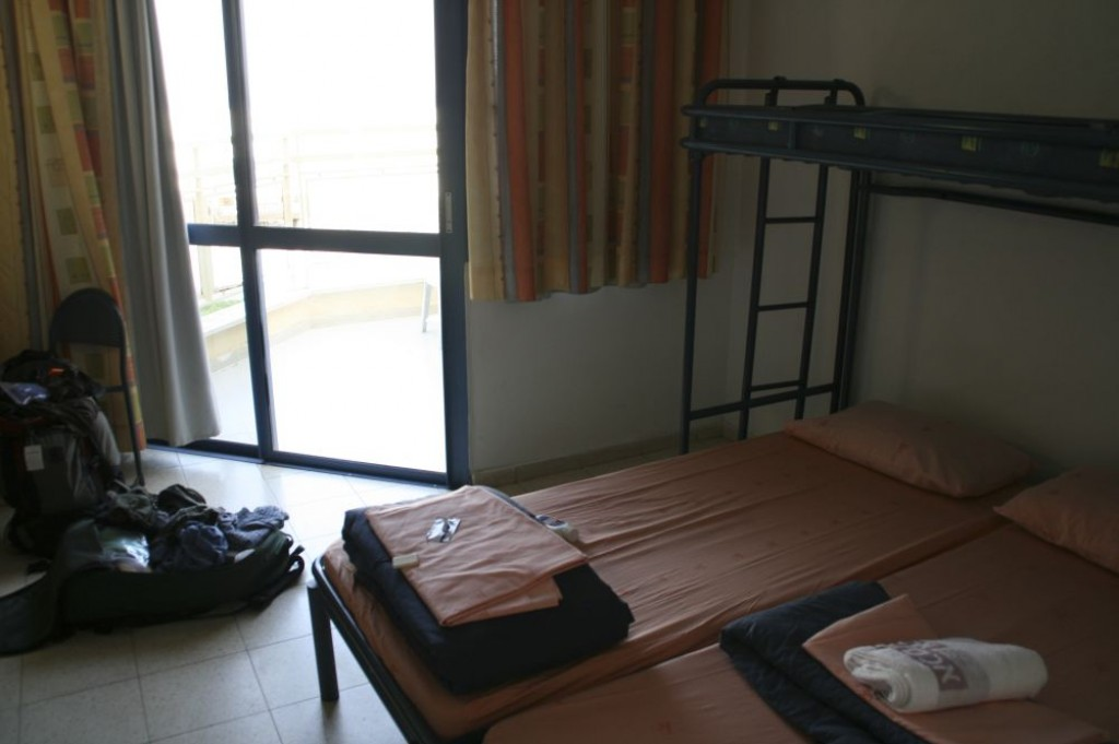This is a picture of our room at the Ein Gedi Youth Hostel.