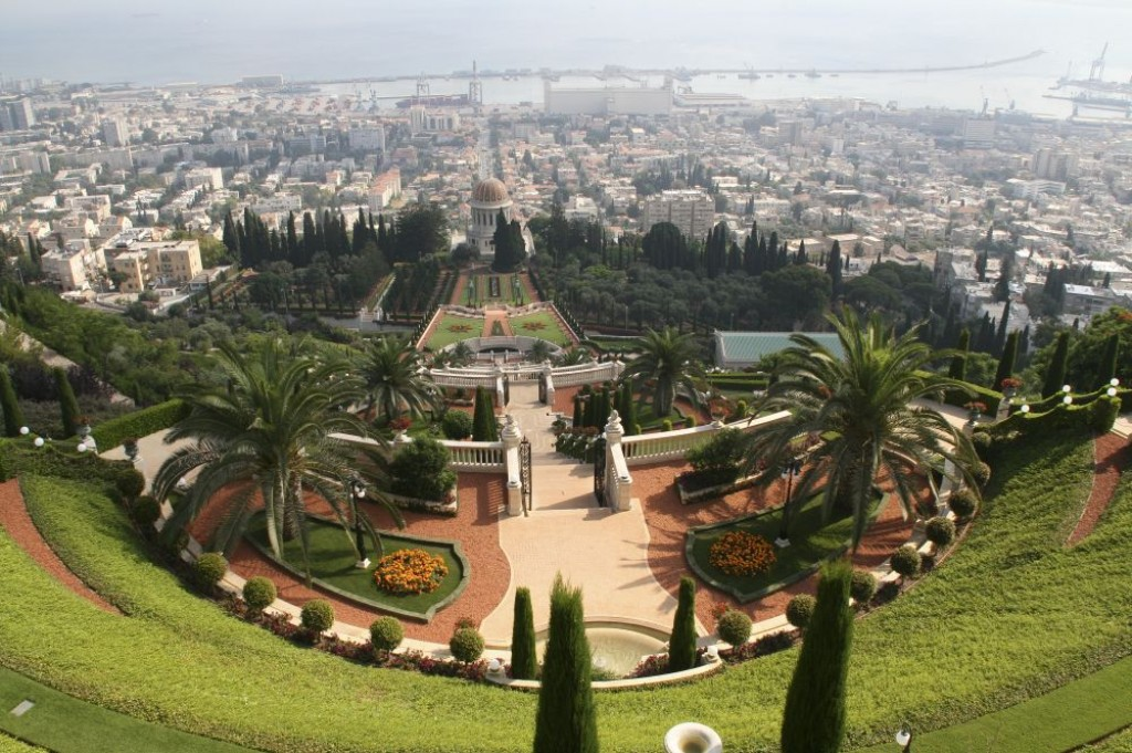 Haifa is a modern city in the north of Israel, and is home to the famous Bahai Temple and Gardens.