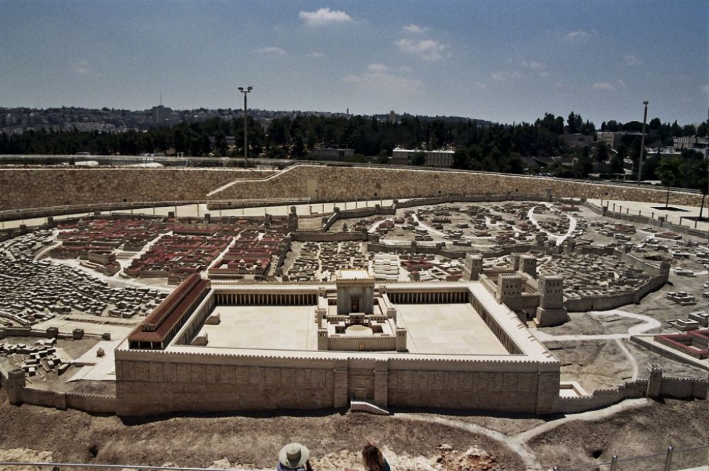 Model of the Old City with the First Temple at the Israeli Museum