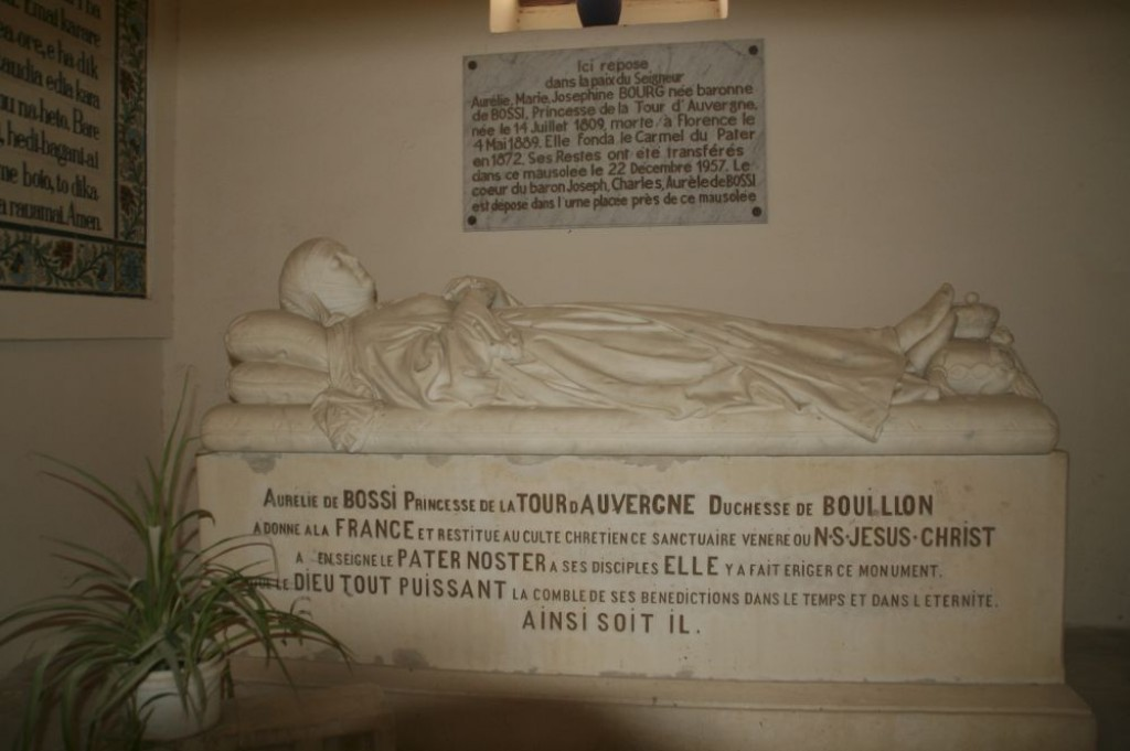 The Church of the Pater Noster, tomb of Aurelie de Bossi.