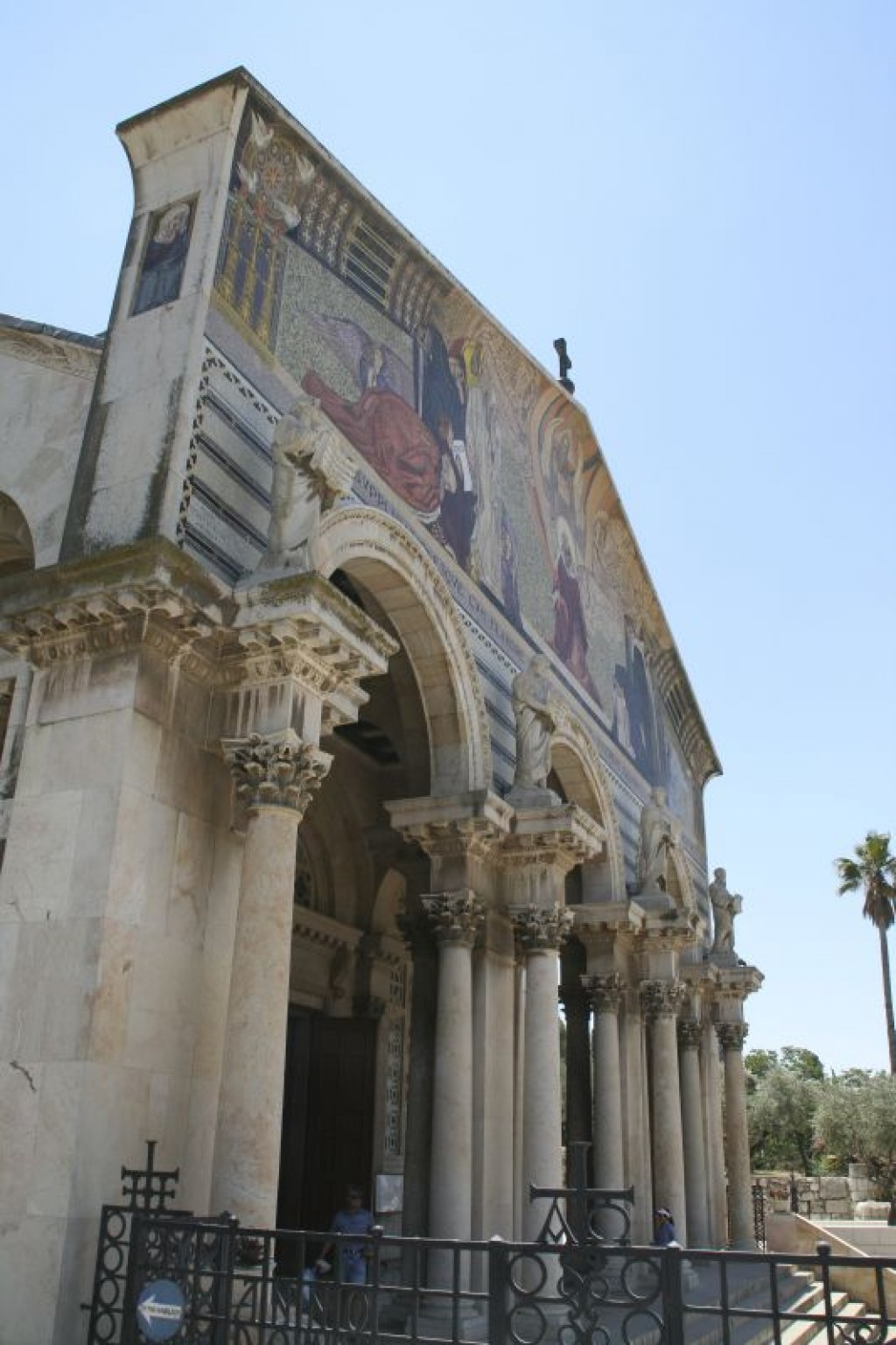 The front of the Church of All Nations.   Inside is where Jesus Christ is said to have prayed the night of his arrest.