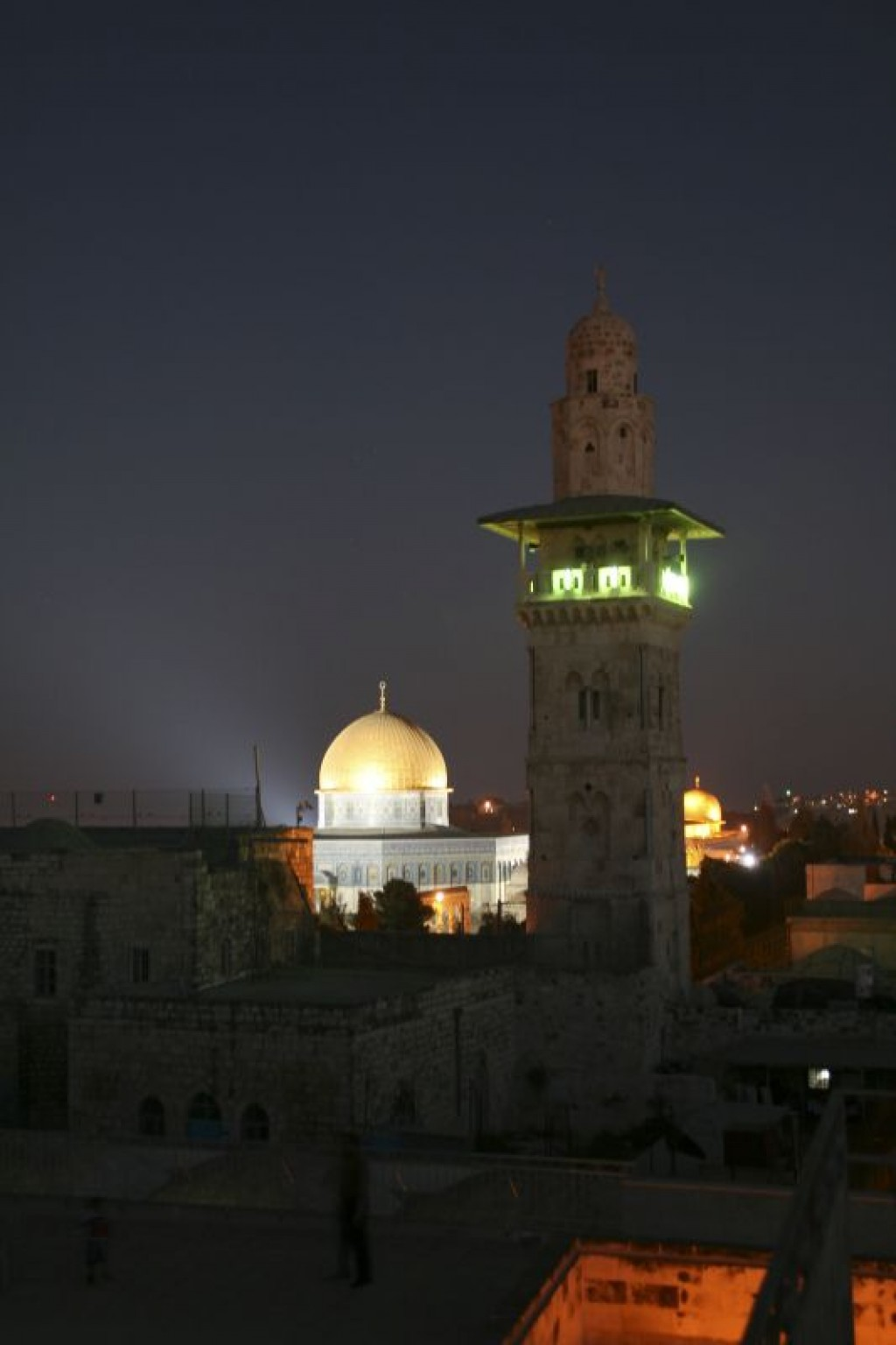 NIght time view of the Dome of the Rock