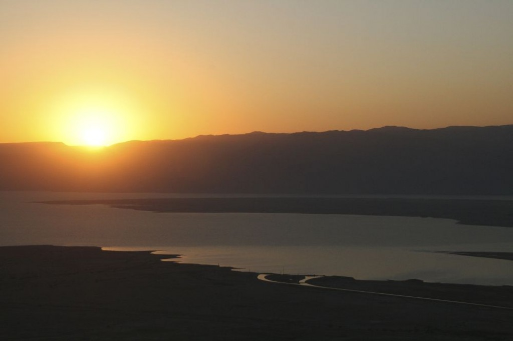 We climbed Masada to watch the sunrise, along with thousands of other people, but we still really enjoyed the view.  We were also able to tour the ruins before the intense heat overwhelmed us.