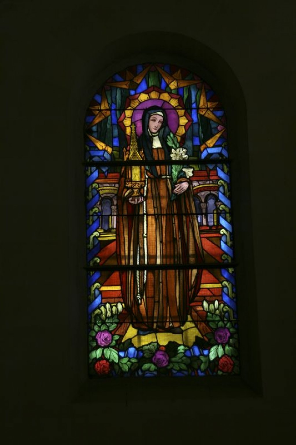 Stained glass of St Joseph's Church.
