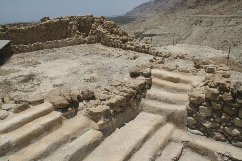 Qumran, on the Dead Sea, is where the Dead Sea Scrolls were found in a cave.  It's a short wander around the site.