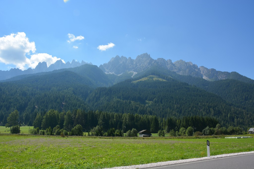We took a stunning drive through the Dolomites up to the Gardena Pass.  It was one of the most beautiful scenic drives we've ever done.