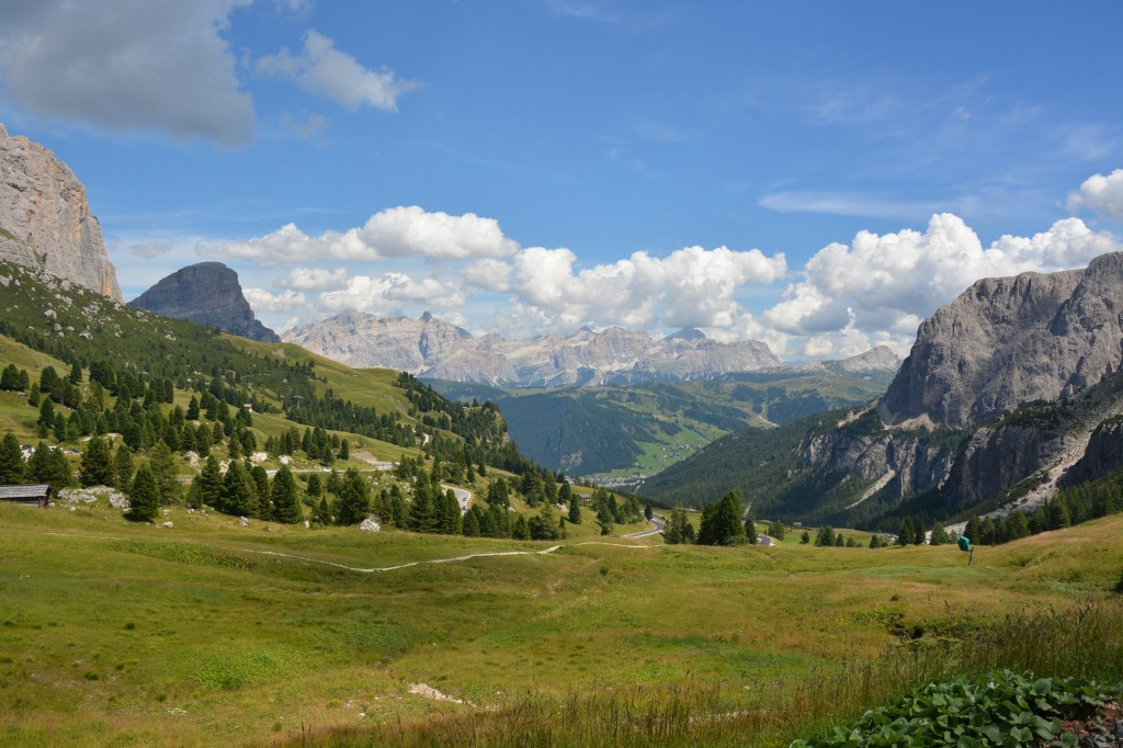At the top of the Val Gardena pass
