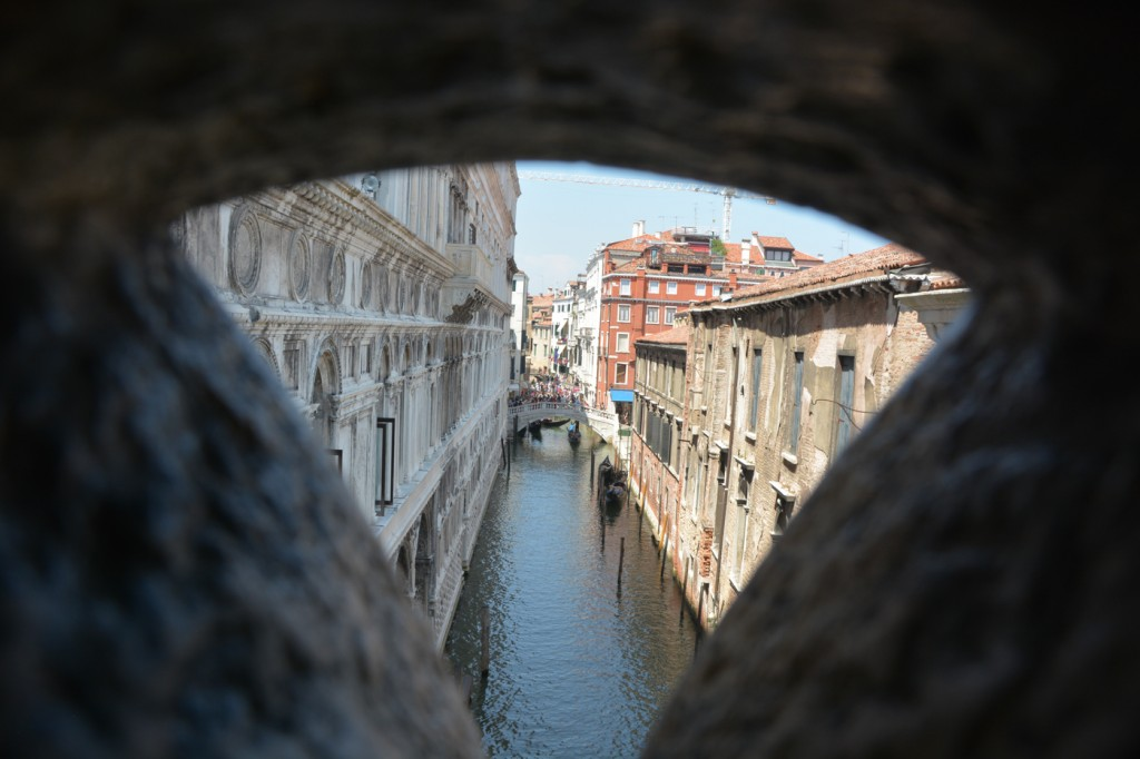 Photo taken from the Bridge of Sighs