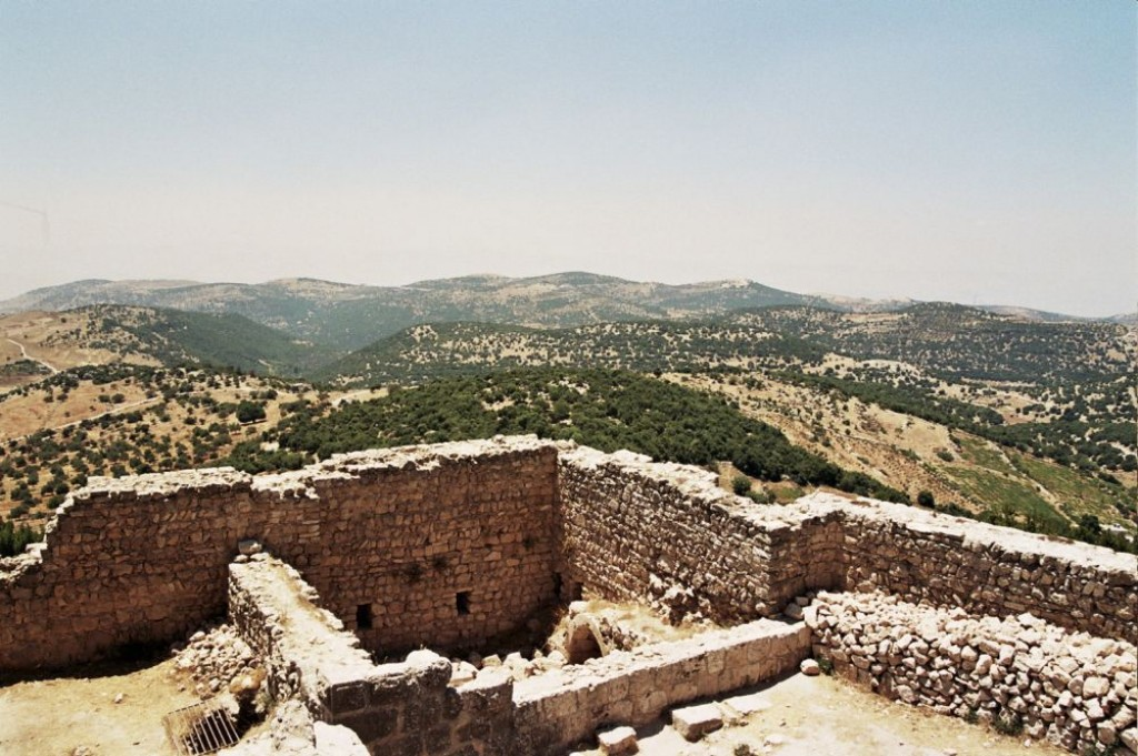 From Ajlun castle, there are beautiful views of the Jordan Valley and three wadis: Kufranjah, Rajeb, and Al-Yabes.  Thus it was strategically important.