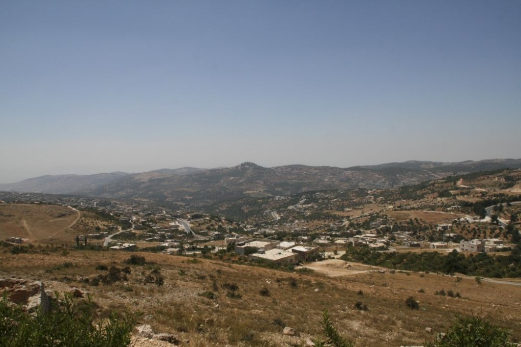 View of the scenery around Ajlun.