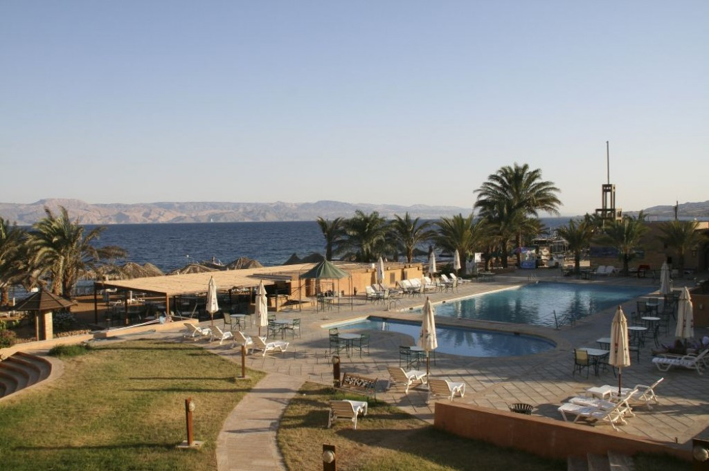 Aqaba is next to Eilat, and has some great sea views, and good snorkelling.  It isn't as built up as on the Israeli side though, and many resorts are still being built.