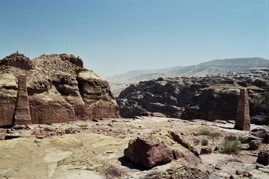 At the top, these are two obelisks dedicated to Nabatean Gods.