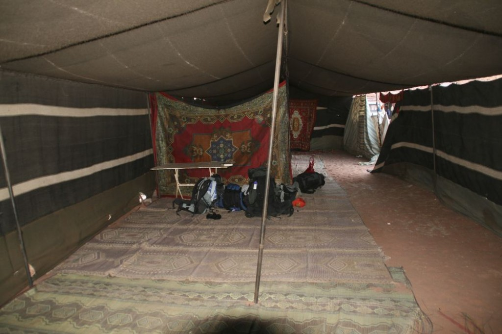 This is the berber tent where we stayed for the night, though everyone slept outside.