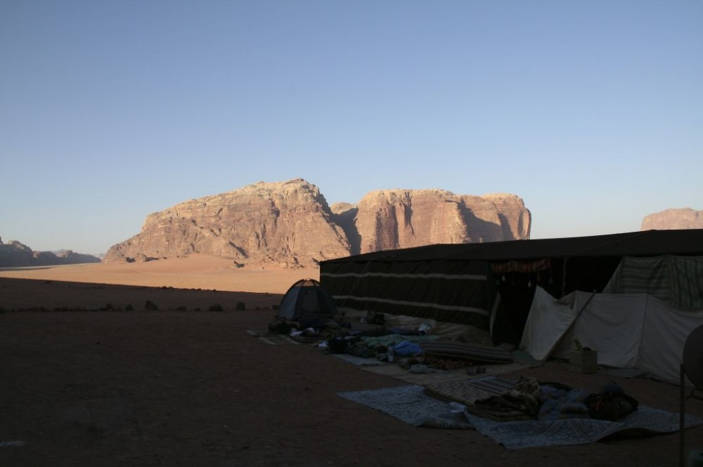 Early next morning - packing up to go on to Petra.