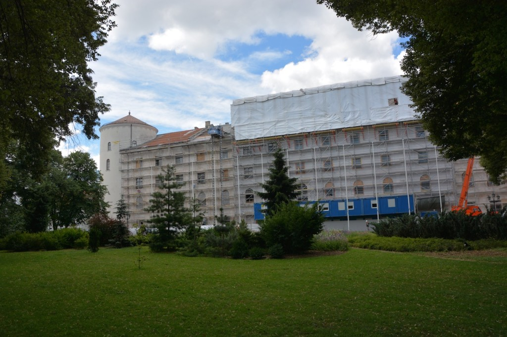 The back of the Riga Castle.  We didn't get much closer than this, it's not really a big tourist site.