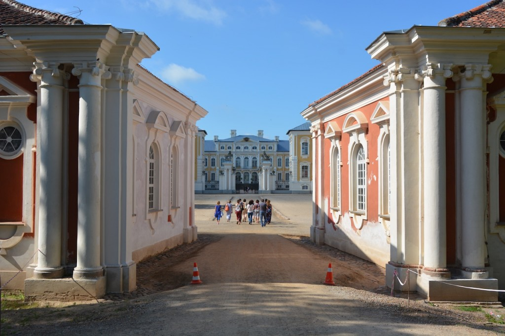 Beautiful entry to Rundale Palace.  Because we stayed in Rundale itself, we almost had exclusive run of the palace.