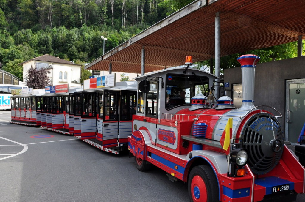 We went on a mini-train ride around Vaduz, one of the few tourist activities.