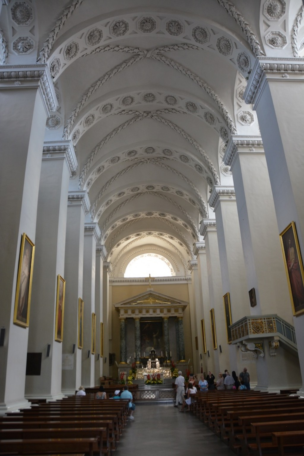 Inside the Vilnius Cathedral
