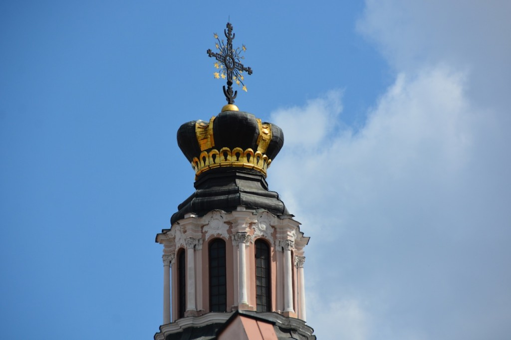 The top of the Church of St. Casimir