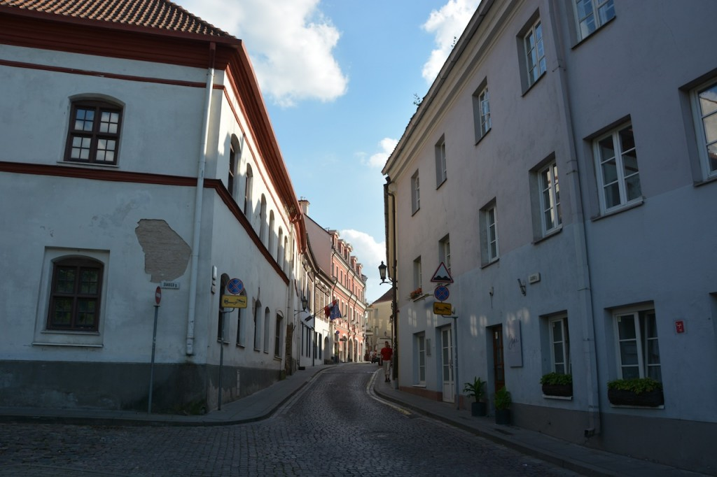 Pretty, quiet streets by the University in Vilnius.