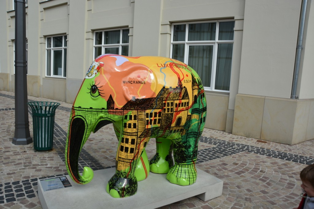 Parade of Elephants was a display of painted elephants we saw in many cities in Germany