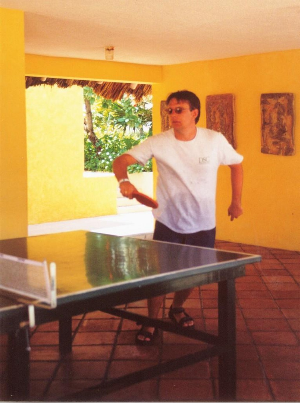 Ian getting his butt kicked in Ping Pong.