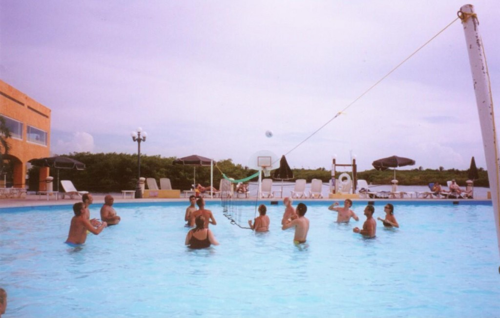 Water volleyball, however, was a daily staple.