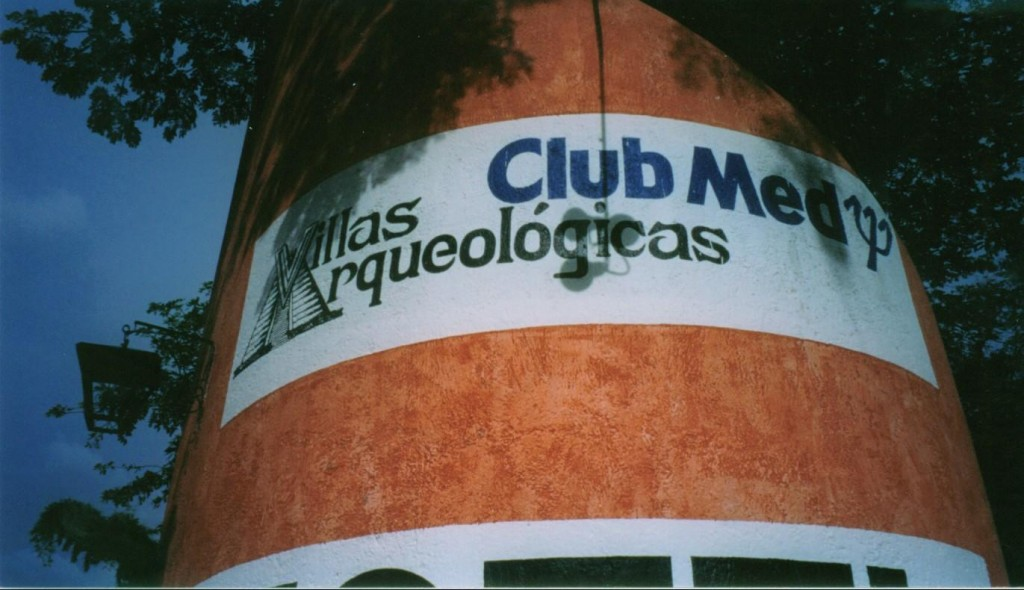 Our last stop was Uxmal.  Here is the sign for the Club Med.