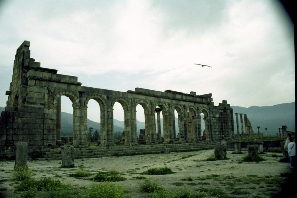Right next to Meknes is the ruins of Volubilis.  It is best preserved Roman site in Morocco.  This is a view from the ruins.